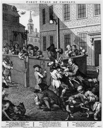 W.Hogarth, Erste Stufe der Grausamkeit von AKG  Images
