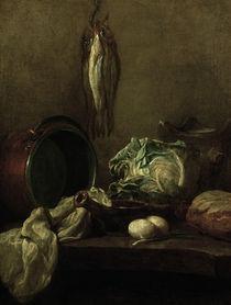 J.B.S.Chardin, Stillleben mit Kessel von AKG  Images