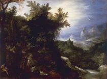 J.Brueghel d.Ae., Landschaft m.Hieronymus by AKG  Images