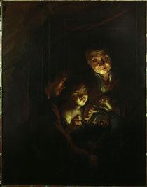 P.P.Rubens/Die Alte mit dem Kohlebecken von AKG  Images