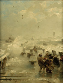 Andreas Achenbach, stuermischer Tag by AKG  Images