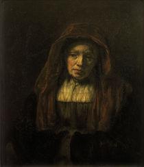 Rembrandt/ Alte Frau mit Kopftuch/ 1654 von AKG  Images