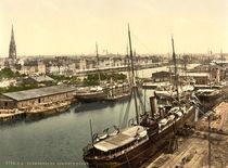 Bremerhaven, Neuer Hafen / Photochrom von AKG  Images