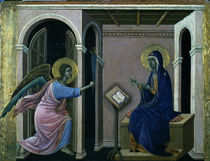 Duccio, Zweite Verkuendigung an Maria by AKG  Images