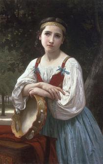 W.A.Bouguereau, Zigeunerin mit Pandero by AKG  Images