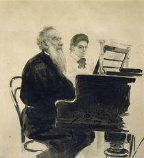 Leo Tolstoj / Aquarell von Repin von AKG  Images