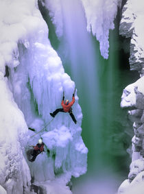 Ice Climbing by Scott Spiker