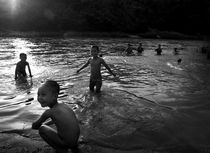 Boys by the river, Thailand by Alex Soh