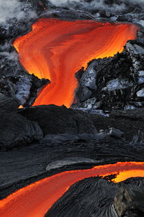 River of molten lava, close-up, Kilauea Volcano, Hawaii Islands, United States by Sami Sarkis Photography