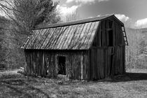 Weathered mountain barn  by Carl Tyer