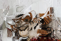 Cowboy Losing His Hat on a Billboard, Las Vegas, Nevada  von Eye in Hand Gallery