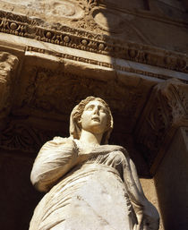 Low angle view of a statue in a library, Celsus Library, Ephesus, Turkey by Panoramic Images