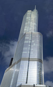 Low angle view of a skyscraper, Trump Tower, Chicago, Cook County, Illinois, USA by Panoramic Images