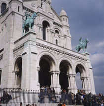 Low angle view of a church, Basilique Du Sacre Coeur, Montmartre, Paris, France by Panoramic Images