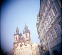 Low angle view of a church, Tyn Church, Old Town, Prague, Czech Republic von Panoramic Images