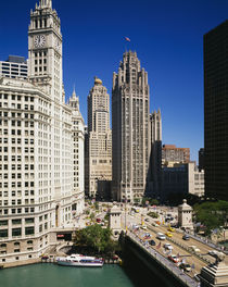 Buildings in a city, Wrigley Building, Chicago, Illinois, USA von Panoramic Images