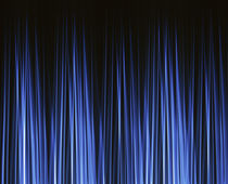 Vertically striated curtain in dark blues by Panoramic Images
