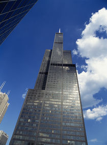 Low angle view of a tower, Sears Tower, Chicago, Illinois, USA von Panoramic Images