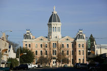 Facade of a courthouse, Presidio County Courthouse, Marfa, Texas, USA by Panoramic Images