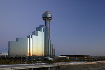 Tower behind a building in a city, Reunion Tower, Dallas, Texas, USA by Panoramic Images