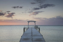 Pier at the coast, Dinarobin Hotel, Le Morne Brabant, Mauritius by Panoramic Images