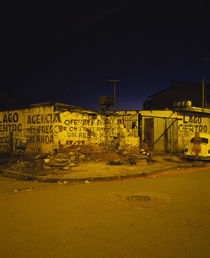 Run-down buildings on a street corner, Brasilia, Brazil von Panoramic Images