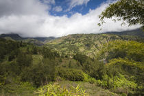 Mountain range on a landscape, Grand-Ilet, Cirque de Salazie, Reunion Island by Panoramic Images