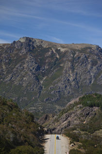 Road passing through mountains, RN 234, Lake District, Argentina by Panoramic Images