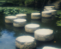 Stepping Stones Heian Jingu Kyoto Japan von Panoramic Images