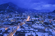 High angle view of buildings in a town, Interlaken, Berne, Switzerland by Panoramic Images