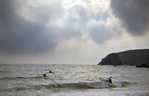 Kayaking at Kilfarassy Cove, Copper Coast, County Waterford, Ireland by Panoramic Images