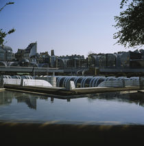 Reflection of sky in water, Les Halles, Paris, France by Panoramic Images