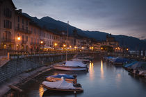 Harbor at dusk by Panoramic Images