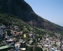 High angle view of a city, Favela, Rio De Janeiro, Brazil von Panoramic Images