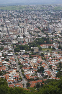 Aerial view of a city, Cerro San Bernardo, Salta, Argentina von Panoramic Images