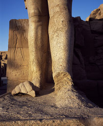 Ruins of a statue, Valley Of The Kings, Luxor, Egypt von Panoramic Images