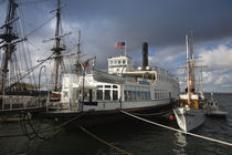 Maritime museum with Ferry Berkeley, San Diego Bay, San Diego, California, USA by Panoramic Images