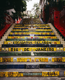Low angle view of a staircase, Lapa Steps, Rio De Janeiro, Brazil by Panoramic Images