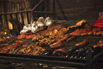 Sausages on a grill, Mercado Del Puerto, Montevideo, Uruguay by Panoramic Images