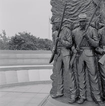Close-up of statues of American soldiers by Panoramic Images