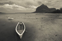 Boats on the beach, Le Morne Brabant, Mauritius by Panoramic Images