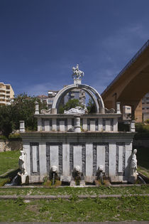 Medieval fountain in a city, Fontana di Rosello, Sassari, Sardinia, Italy by Panoramic Images