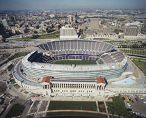 Aerial view of a stadium, Soldier Field, Chicago, Illinois, USA von Panoramic Images
