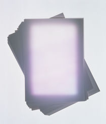 Rectangle lavender sheets with illuminated center by Panoramic Images