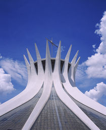 High section view of a cathedral, Cathedral of Brasilia, Brasilia, Brazil by Panoramic Images