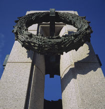 Low angle view of a monument, National World War II Memorial, Washington DC, USA by Panoramic Images