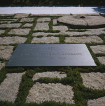 High angle view of the grave of John F Kennedy by Panoramic Images