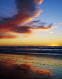 Sunset And Clouds Over Pacific Ocean by Panoramic Images
