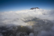 Clouds around a mountain viewed from Piton Maido Peak by Panoramic Images