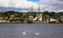 "The ""Dunbrody"" Famine Ship on the River Barrow von Panoramic Images"
